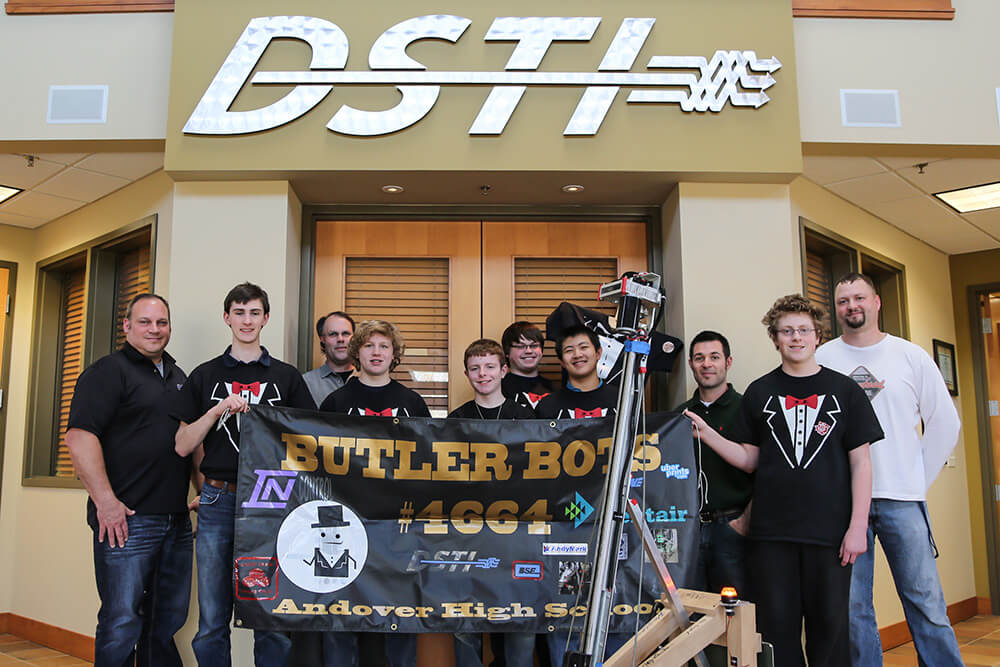 Related Photo: DSTI Supports Local High School in FIRST Robotics Competition