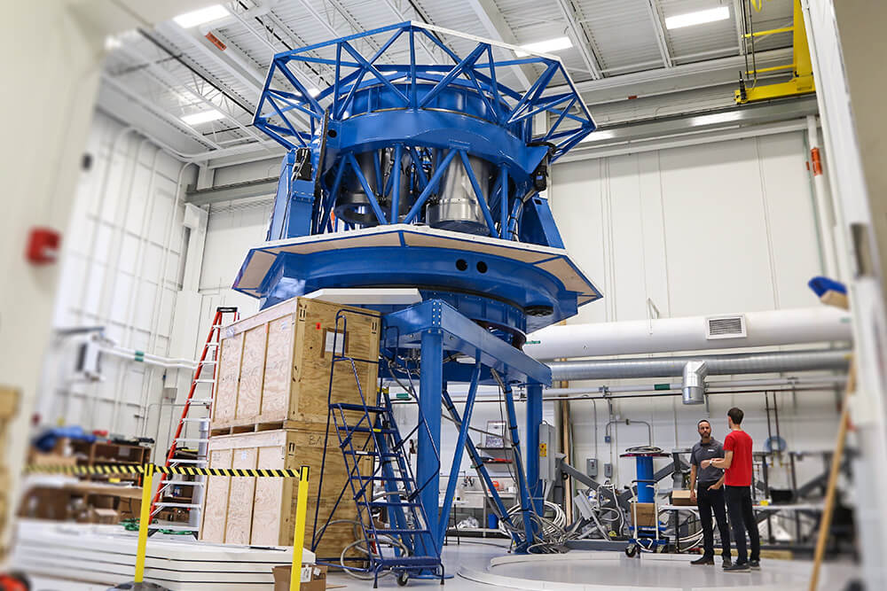 Related Photo: Telescope Fitted with DSTI Equipment Prepares for South Pole Journey