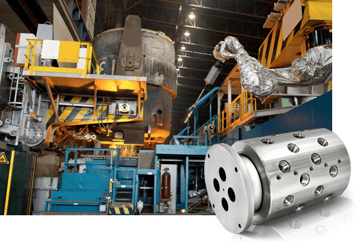 DSTI's Metal Production Fluid Rotary Unions for Ladle Turret Systems