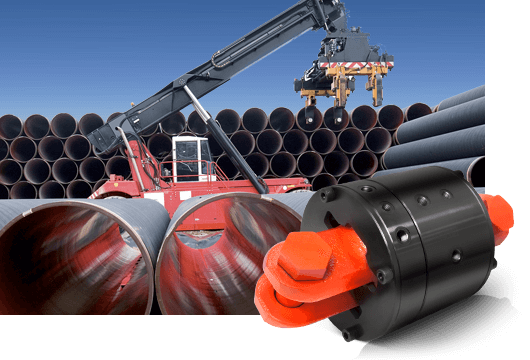 DSTI's Onshore Oil & Gas Fluid Swivel Joints & Rotary Joints for Pipe Handling Systems